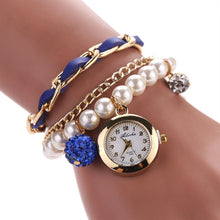 Women Artificial Pearl Anchor Rudder Quartz Bracelet Wristwatches - Songbird Deals