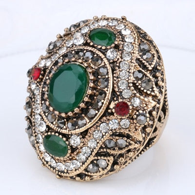 Ring.l Antique Rings For WomenSets Engagement Jewelry Crystal Gift - Songbird Deals