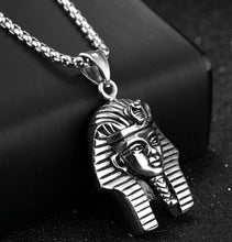 Gold Silver Color Stainless Steel Egypt Pharaoh Statue Pendant Necklace For Men Chain Necklace - Songbird Deals