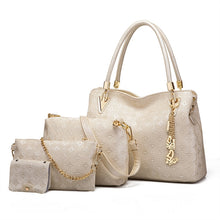 Bag Set. 4pcs Women's Leather Handbags Top Handle Shoulder Bag + Tote Bag + Crossbody Bag + Wallet - Songbird Deals
