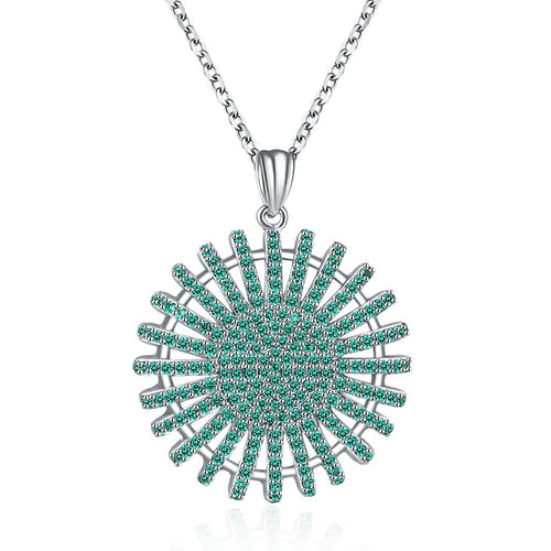 Necklace. S925 Silver Necklace Round Zircon Fashion Necklace - Songbird Deals