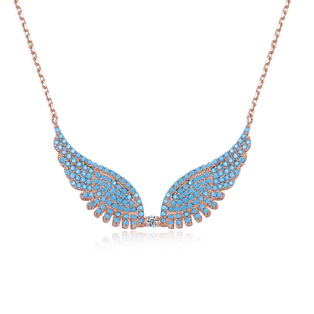 Necklace. S925 Silver Necklace Butterfly Angel Wings CZ Fashion Trend Necklace - Songbird Deals