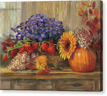 Art. October Still Life Canvas Print by Carol Rowan - Songbird Deals