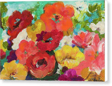 Art.  Cheerful Flowers II Canvas Print by Patricia Pinto - Songbird Deals