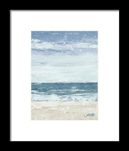 Art.  Oceans In The Mind Vertical II Framed Print by Julie Derice - Songbird Deals