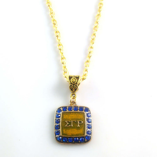Sigma Gamma Rho Sorority BGLO 'Divine 9'  necklace  SGR  Necklace With 45CM Chain 3pcs 1lot - Songbird Deals