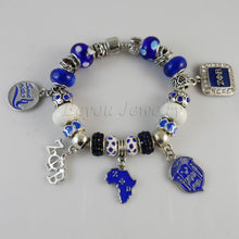 Bracelet.   ZETA PHI BETA  Sorority  BGLO 'Divine 9' ZPB charm bead  bracelet bangle - Songbird Deals