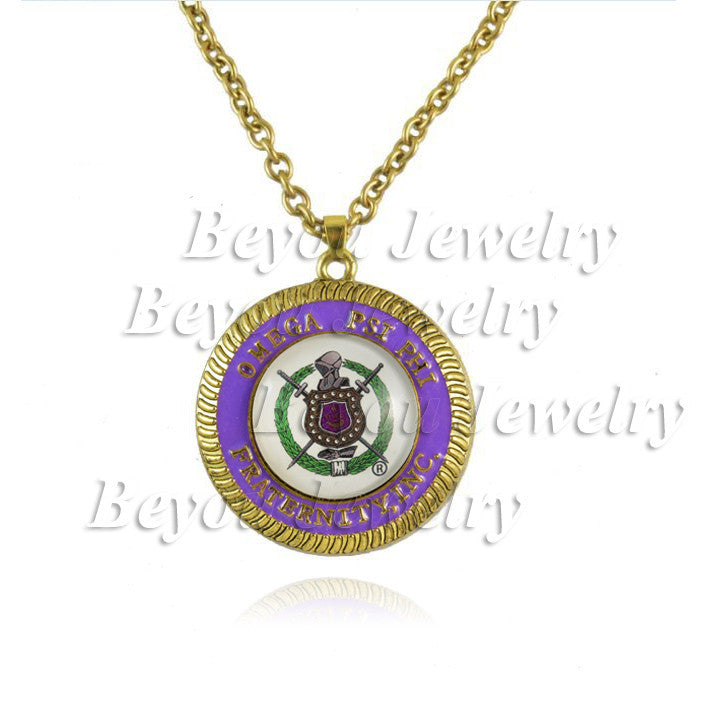 Pendant. Omega  Psi Phi Fraternity  logo  BGLO 'Divine 9 necklace Jewelry 1pc - Songbird Deals