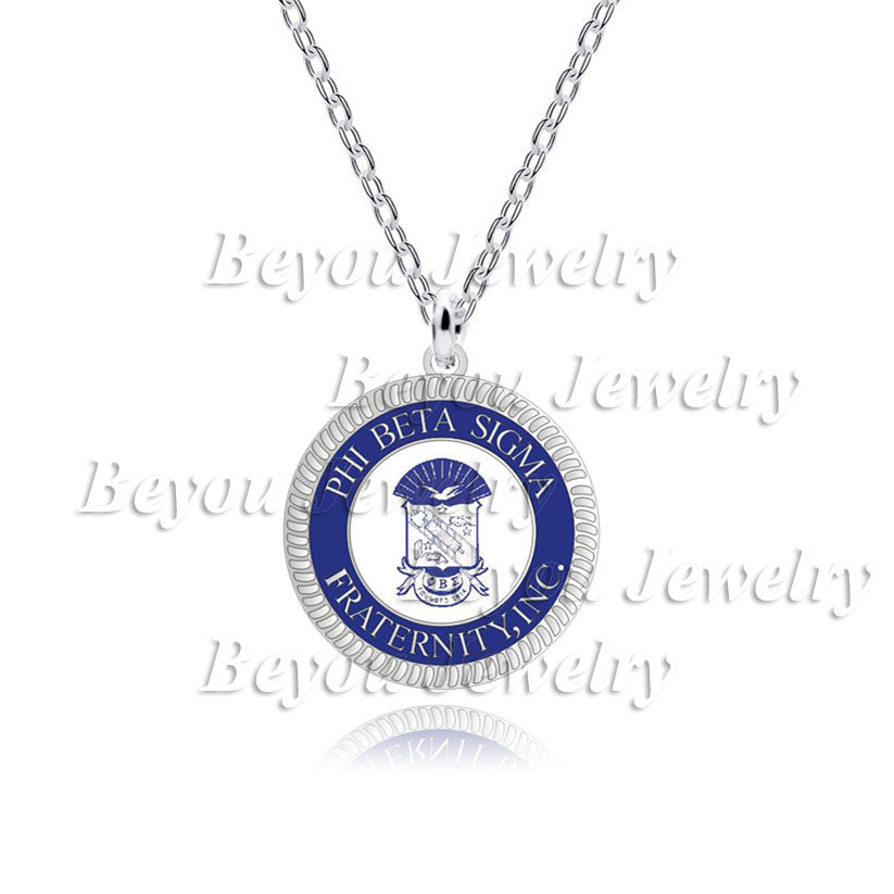 Necklace.  1pc  Phi Beta Sigma  logo  Fraternity Inc necklace Jewelry - Songbird Deals