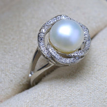 Ring. 9-10mm Natural Freshwater Pearl Ring, Round