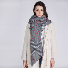 New Winter Warm fashion Women Scarf Cashmere luxury poncho Tartan Plaid Designer Shawls echarpe hiver femme Blanket Scarf - Songbird Deals