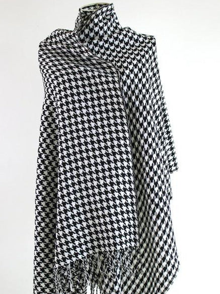 Classic Brand Black and white Plaid Women Scarves Cashmere And Wool Scarf shawl - Songbird Deals