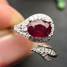 KJJEAXCMY Fine jewelry 925 sterling silver inlaid with red jewels - Songbird Deals