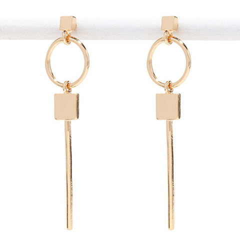 Gold and Silver Key Earrings