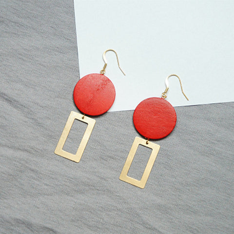 Rectangle Retro Earrings