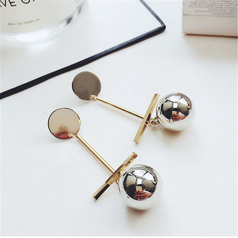 Beautiful Silver Ball Earrings