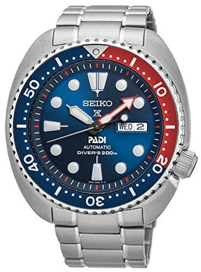 Seiko Quarts Watches Mechanical Stainless Steel Blue Face SRPA21K1