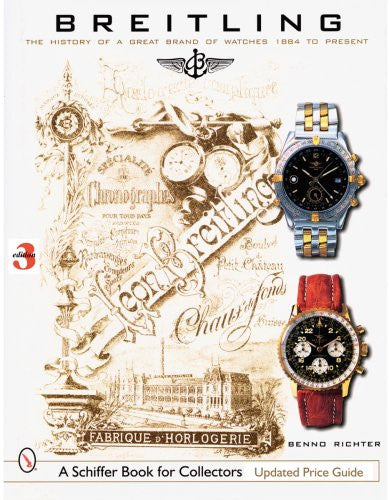 Breitling The Book About The Watches Book Cover View Schiffer Publishing, Ltd.