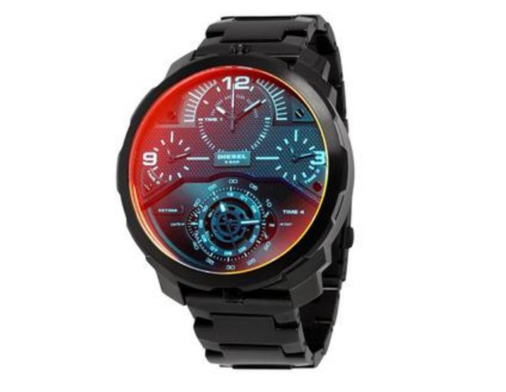 Diesel Machinus Infrared Tinged 4 Timezone Men's Watch DZ7362 - Levers Escape- Men's/Women's Luxury Watches, Fashion Items, Accessories, Literature & More
