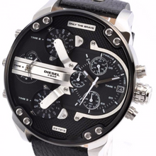 Diesel Mr Daddy 2.0 SIlver Chronograph Dial - Levers Escape- Men's/Women's Luxury Watches, Fashion Items, Accessories, Literature & More