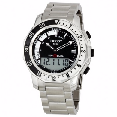 Tissot T-Touch Sea-Touch Men's Watch Stainless Steel Band - Levers Escape- Men's/Women's Luxury Watches, Fashion Items, Accessories, Literature & More