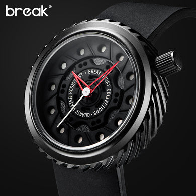 BREAK Men's Creative Racing Wristwatch Motorcycle Wheel Gift Waterproof - Levers Escape- Men's/Women's Luxury Watches, Fashion Items, Accessories, Literature & More