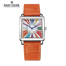 Reef Tiger/RT Designer Ladies Watches Square Colorful Roman Numeral Steel Quartz RGA173 - Levers Escape- Men's/Women's Luxury Watches, Fashion Items, Accessories, Literature & More