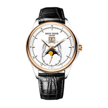 Reef Tiger/RT Dress Watches for Men Big Date Two Tone Rose Gold Moon Phase Watches RGA1928 - Levers Escape- Men's/Women's Luxury Watches, Fashion Items, Accessories, Literature & More
