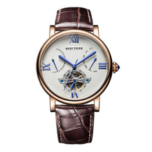 Reef Tiger/RT Designer Tourbillon Automatic Watches with Date Day Rose Gold Men's RGA191 - Levers Escape- Men's/Women's Luxury Watches, Fashion Items, Accessories, Literature & More