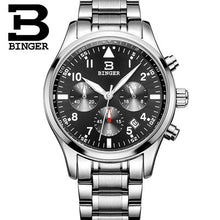 BINGER Mens Luxury Quartz Chronograph Watch