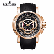 Reef Tiger/RT Designer Sport Watches For Men Rose Gold Quartz Watch with Chronograph and Date RGA3063 - Levers Escape- Men's/Women's Luxury Watches, Fashion Items, Accessories, Literature & More