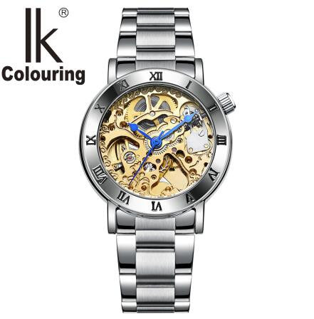 IK Colouring Women's Skeleton Mechanical Wristwatch Automatic Self Winding - Levers Escape- Men's/Women's Luxury Watches, Fashion Items, Accessories, Literature & More