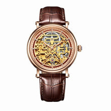 Reef Tiger/RT Mens Mechanical Skeleton Watch with Rose Gold Case Genuine Leather Band Vintage Watches RGA1917 - Levers Escape- Men's/Women's Luxury Watches, Fashion Items, Accessories, Literature & More