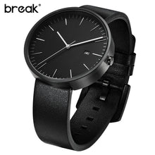 BREAK Luxury Brand Leather Strap Fashion Business Calendar Quartz Wristwatches