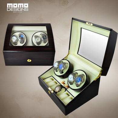 Luxury Rotation watch winder for 4+6 watches JAPAN motor automatic industrial winder box Watch core winder 2017 new design - Levers Escape- Men's/Women's Luxury Watches, Fashion Items, Accessories, Literature & More
