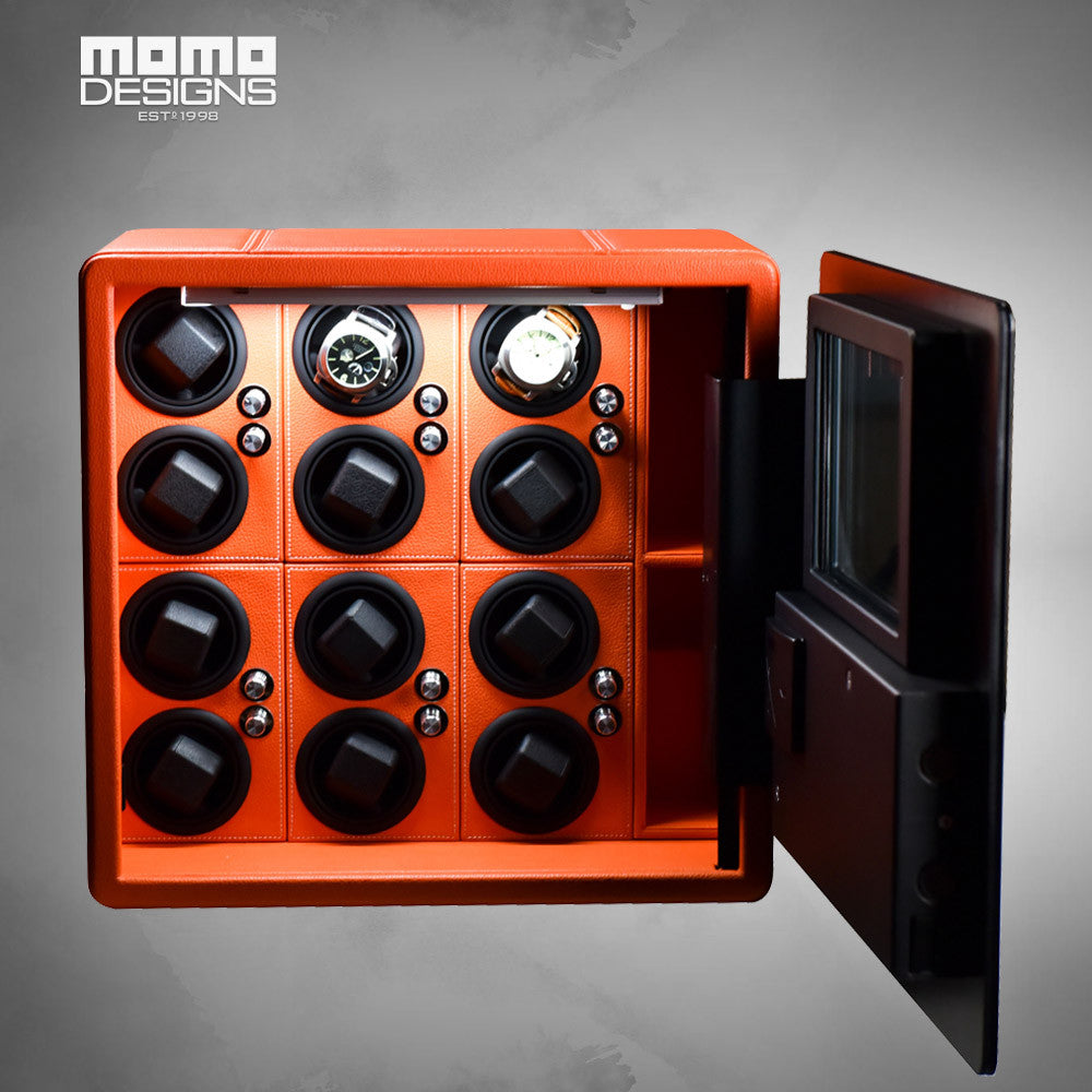 Best quality LCD watch winder safe box in high security for 12 watches steel strongbox - Levers Escape- Men's/Women's Luxury Watches, Fashion Items, Accessories, Literature & More