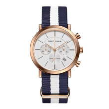 Reef Tiger/RT Designer Rose Gold Waterproof Nylon Strap Men's RGA162 - Levers Escape- Men's/Women's Luxury Watches, Fashion Items, Accessories, Literature & More