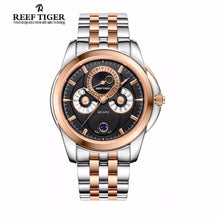 Reef Tiger/RT Moonphase Watch Complex Dial with Day Date Calendar Moon Phase Rose Gold Watch for Men RGA830 - Levers Escape- Men's/Women's Luxury Watches, Fashion Items, Accessories, Literature & More