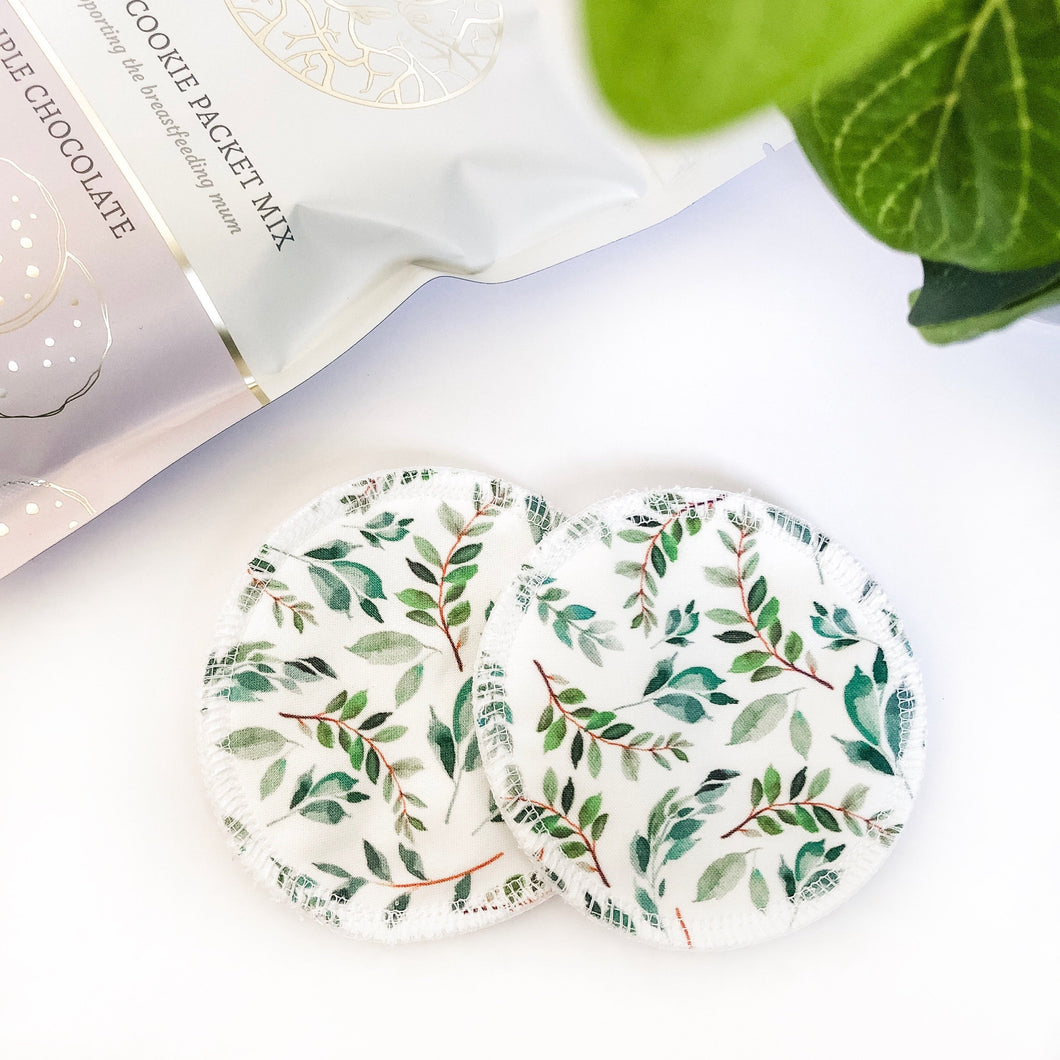 Leafy Love Reusable Nursing Pads