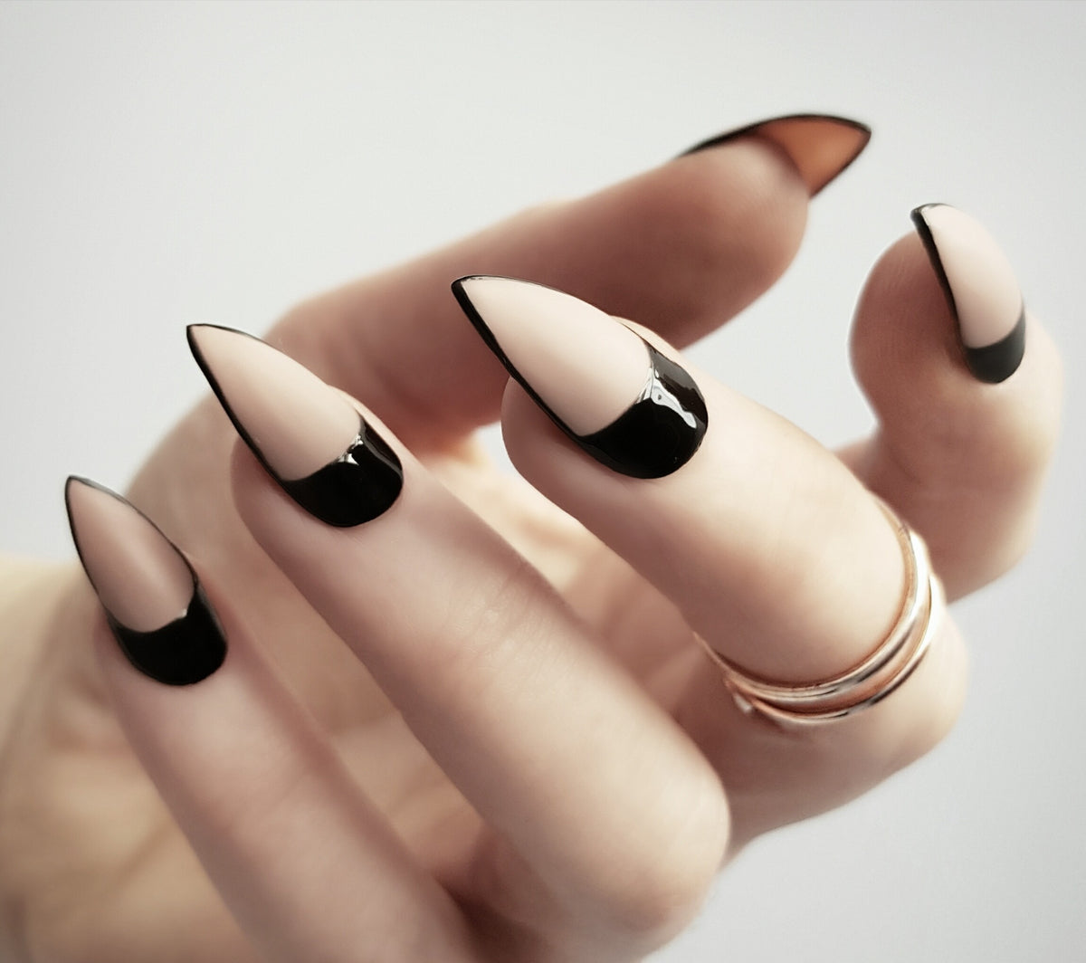 Bold nude and black