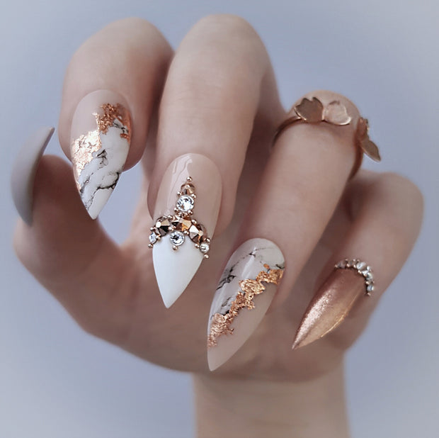Rose gold and marble