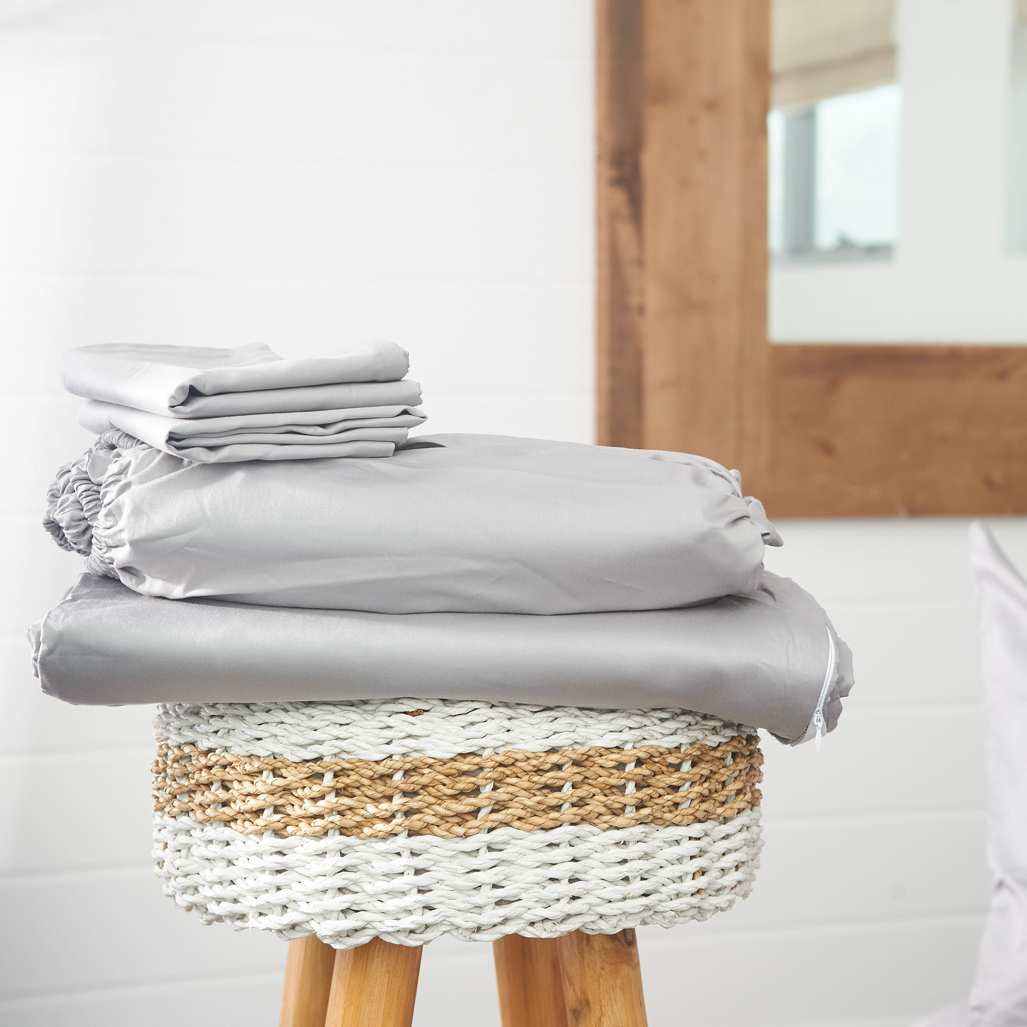 Grey Anchor Sheet Set