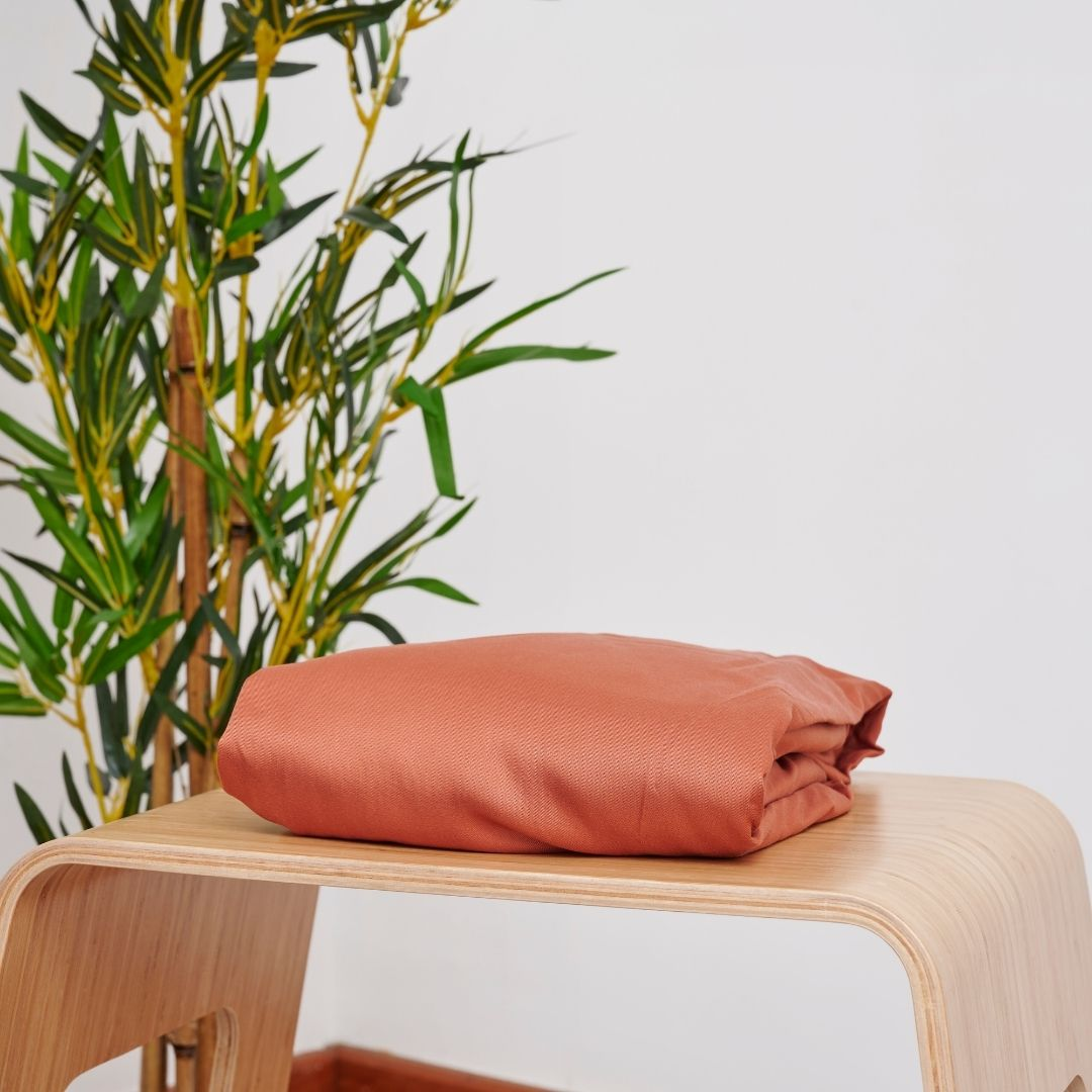 Bamboo Terracotta Fitted Sheet (6583663296600)