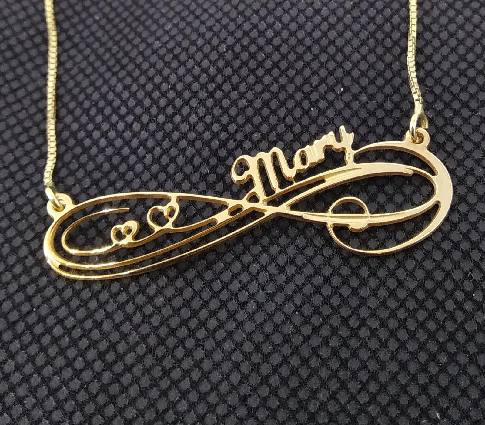 Infinity Name Necklace Eternity Necklace With Name Infinity Symbol