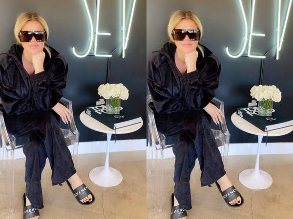 STAPLE-AND-HUE - Staple and Hue - Rocco Pants - Dash Hoodie - Black - Vanilla - Dash - Rocco - White - Staple & Hue - Celebrity Fashion - Luxe - Basics - Kylie Jenner - Khloe Kardashian - Kourtney Kardashian