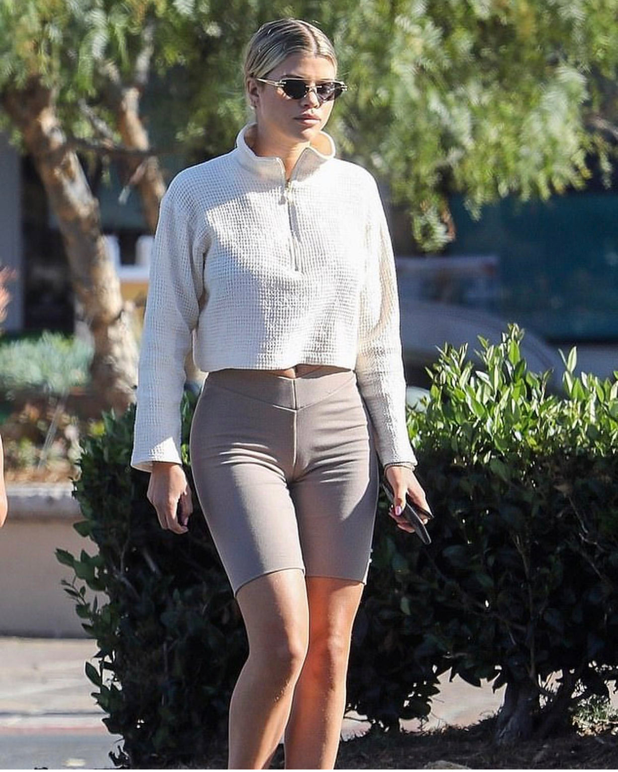 STAPLE-AND-HUE - Soho Shorts - Mocha - Staple & Hue - Celebrity Fashion - Luxe - Basics - Kylie Jenner - Khloe Kardashian - Kourtney Kardashian - Sofia Richie