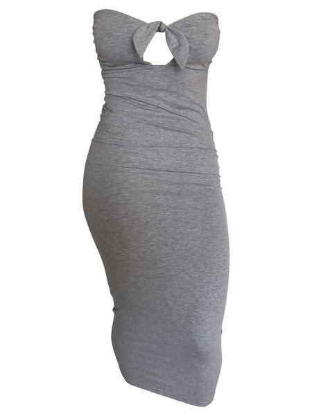 The Staple Mini Dress - Grey/White