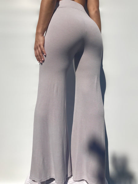 The Staple Wide Leg Pants - Grey - Staple & Hue