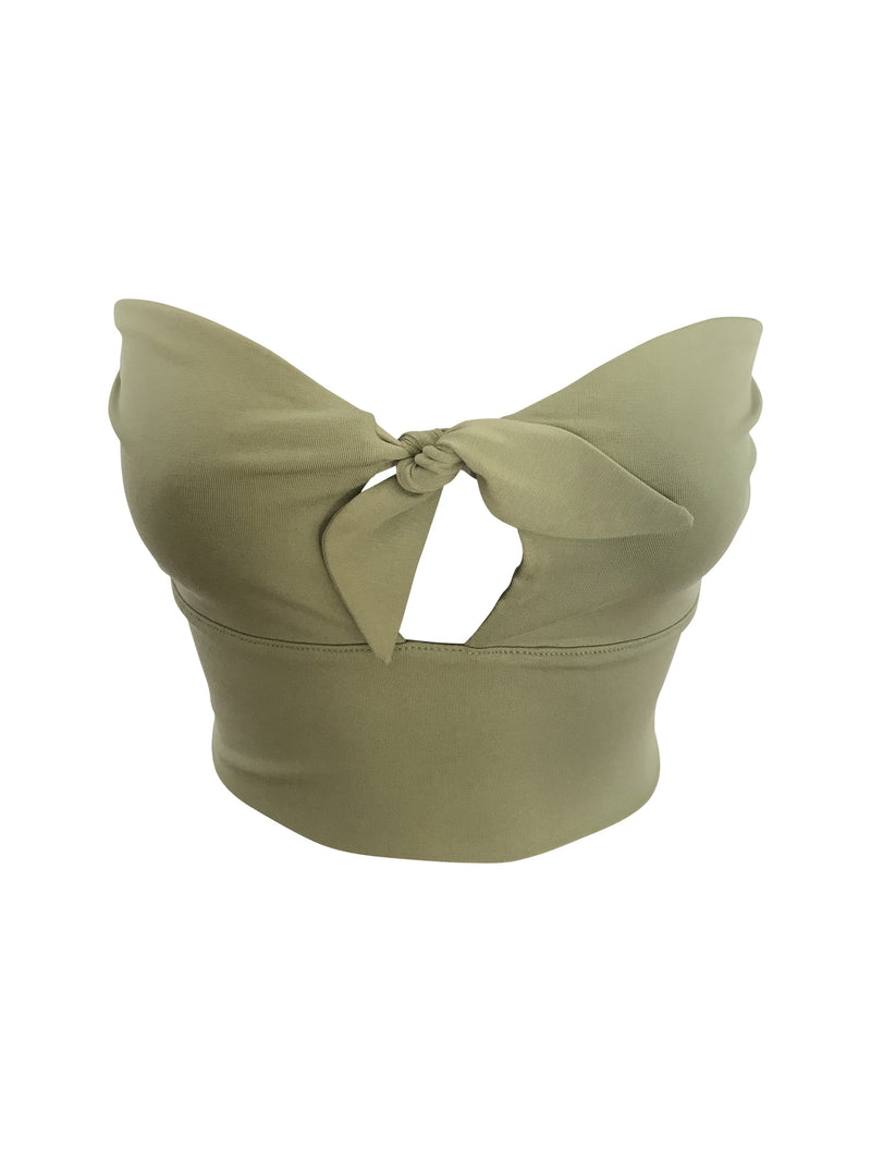 Shel Bandeau - Staple & Hue - Sage - Basics - Luxe - Crop top - ladies bandeau australia - Australian Designer - Premium Fabrics - Celebrity Fashion - Luxe - Basics - Kylie Jenner - Khloe Kardashian - ladies clothing australia - ladies clothing online australia - Bella Hadid - Australian Fashion Brand - shop the look