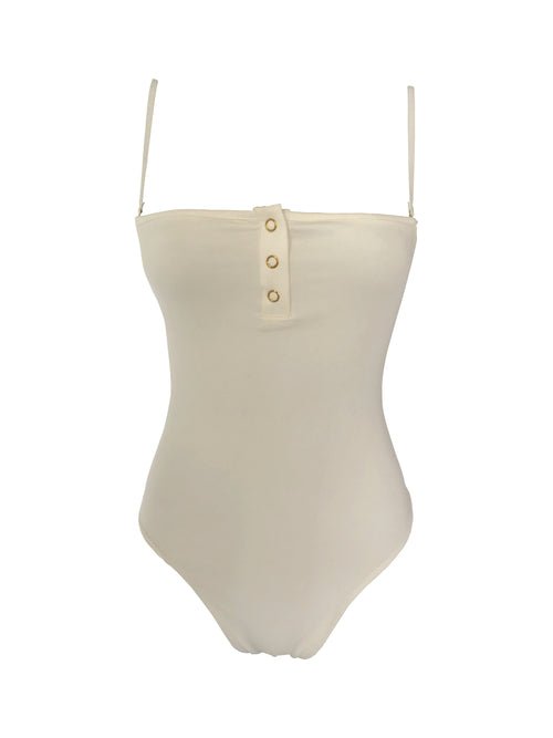 The Staple Bodysuit - White - Staple & Hue